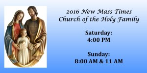New Mass Schedule 2016